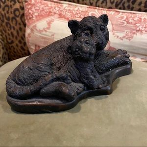 Other - RESIN SCULPTURE OF TIGER AND CUB.